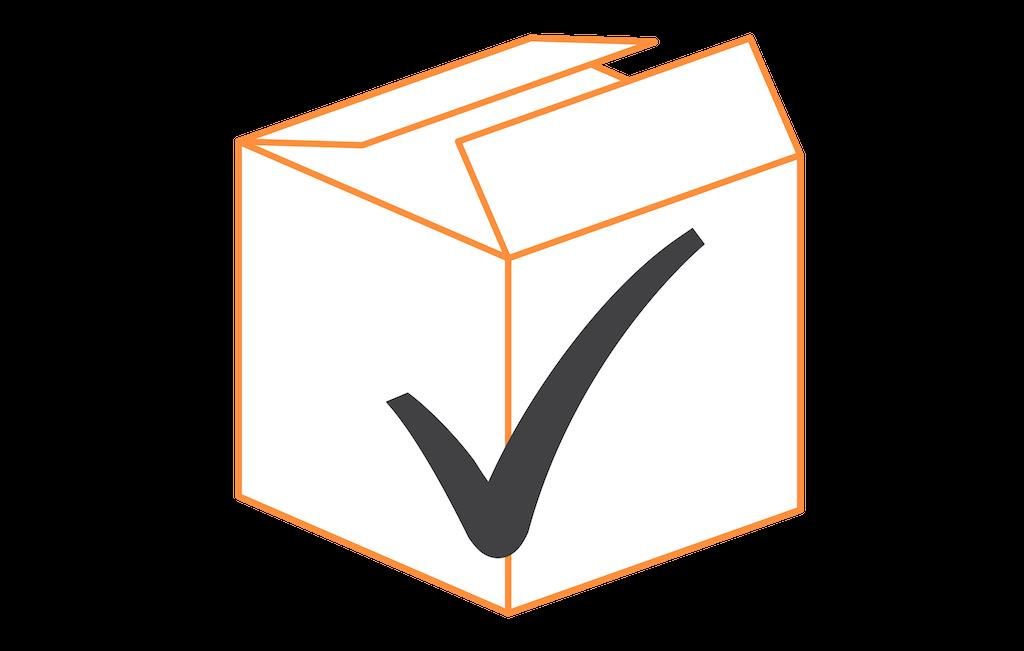 orange check box