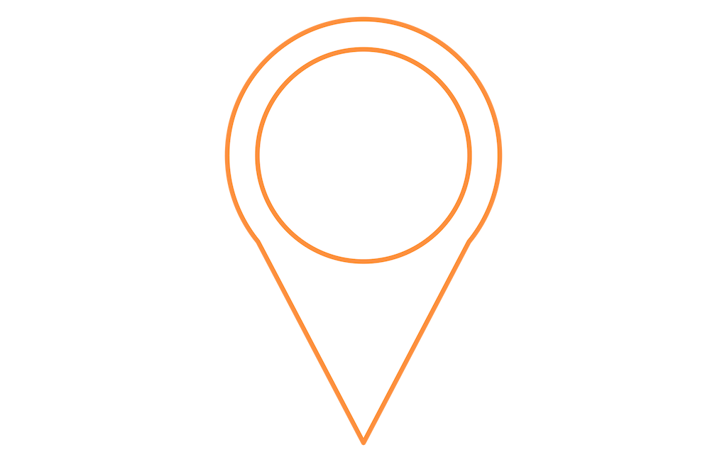 orange location marker